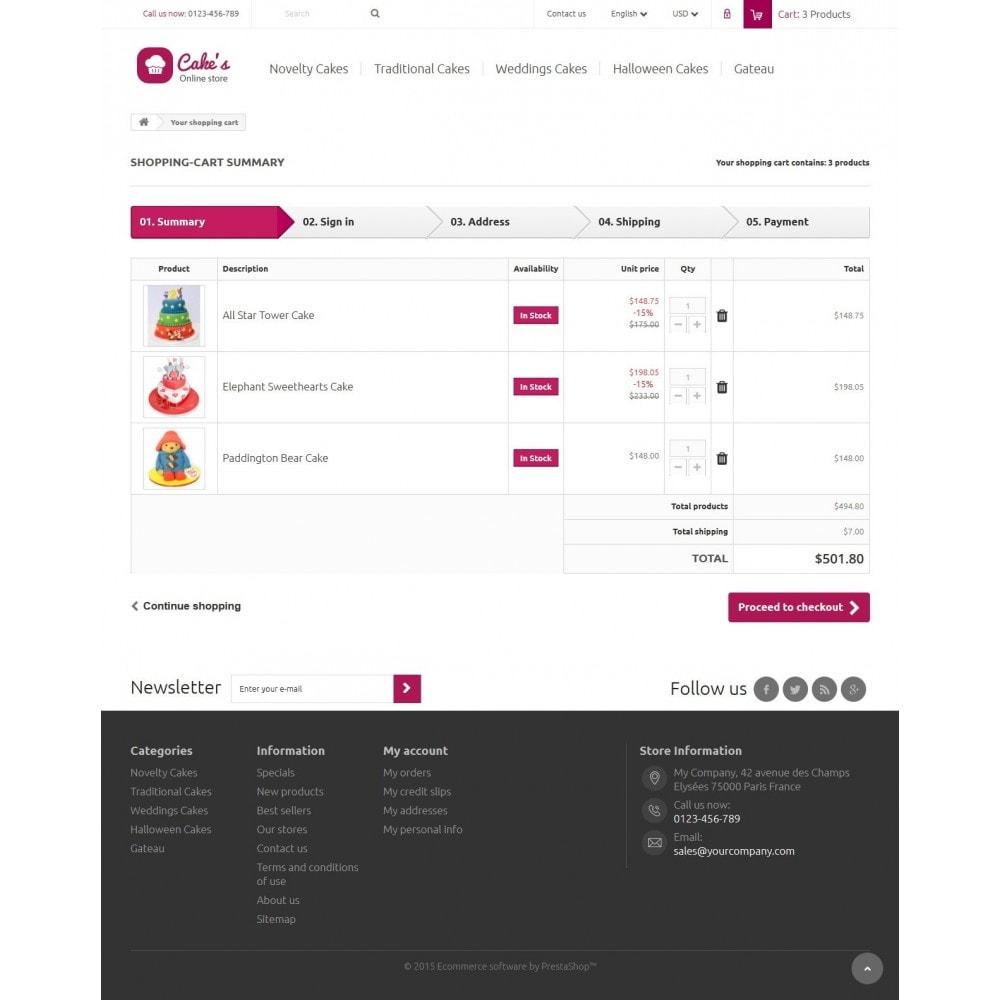 theme - Eten & Restaurant - Cakes Online store 1.6. Responsive - 8