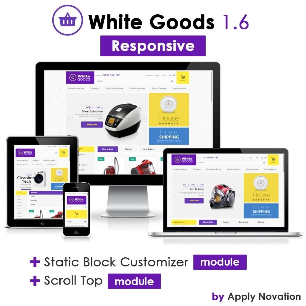 theme - Electrónica e High Tech - Appliances & White goods 1.6 Responsive - 1