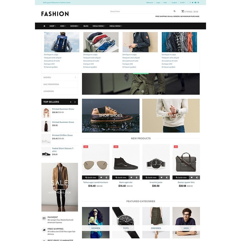 Fashion - Responsive Prestashop Theme