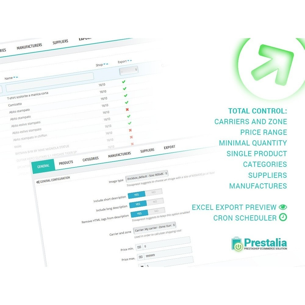 module - Porównywarki cen - Pricerunner - Eksport + Zaawansowane filtry - 1
