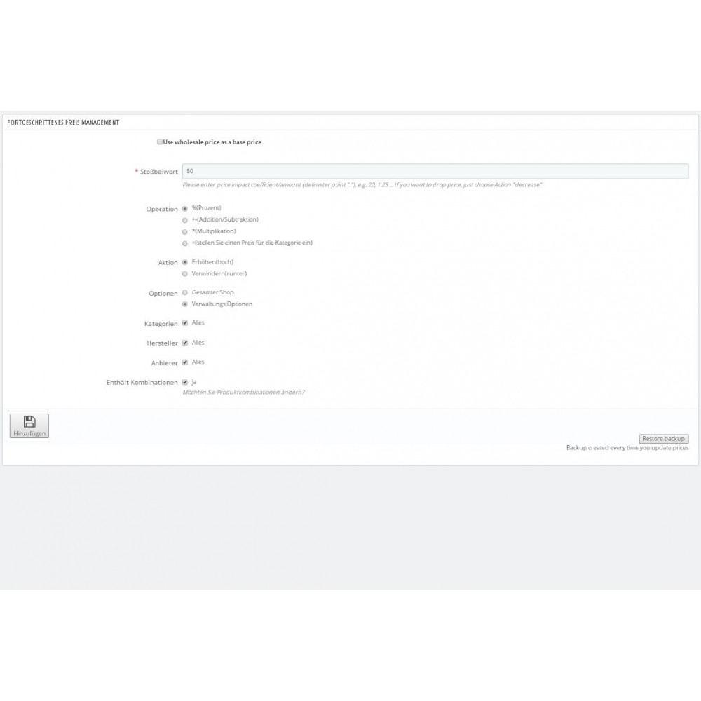 module - Quick Eingabe & Massendatenverwaltung - Massenpreisänderungs-Assistent - 1