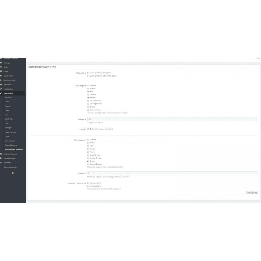 module - Modifica rapida & di massa - Sposta prodotti in massa tra le categorie - 2