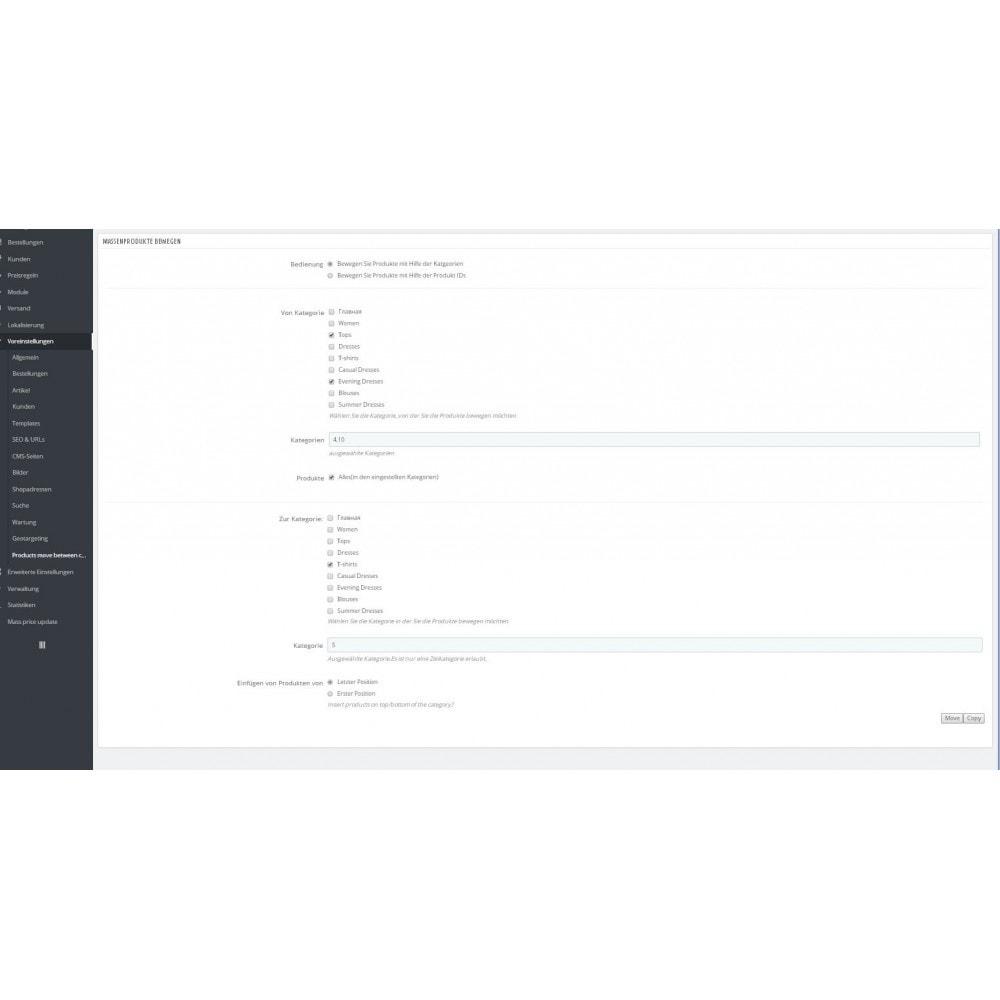 module - Quick Eingabe & Massendatenverwaltung - Massenprodukte zwischen Kategorien bewegen - 1