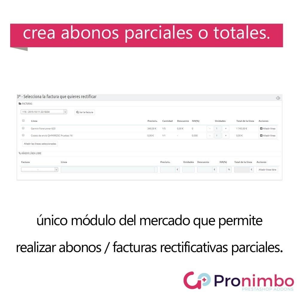 module - Contabilidad y Facturas - Facturas Rectificativas/Abonos.Totales y Parciales. - 2