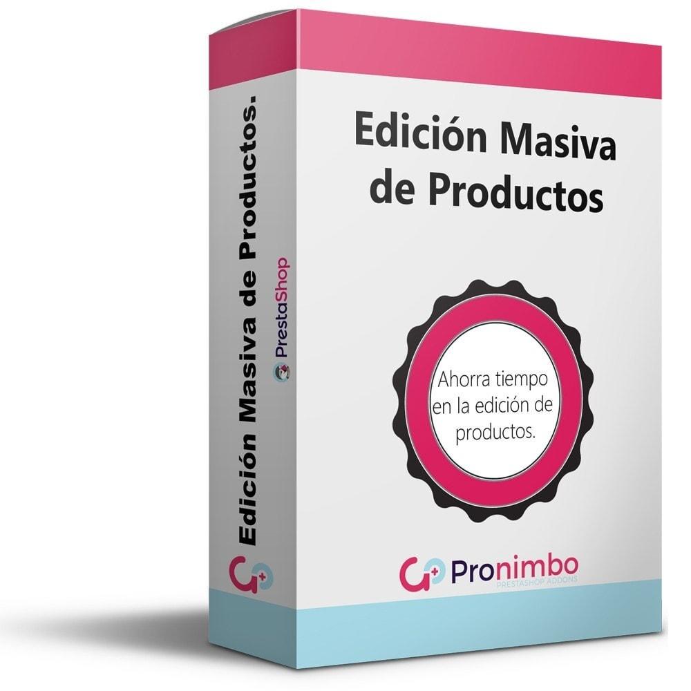 module - Edición Rápida y Masiva - Edición Masiva de Productos. - 1