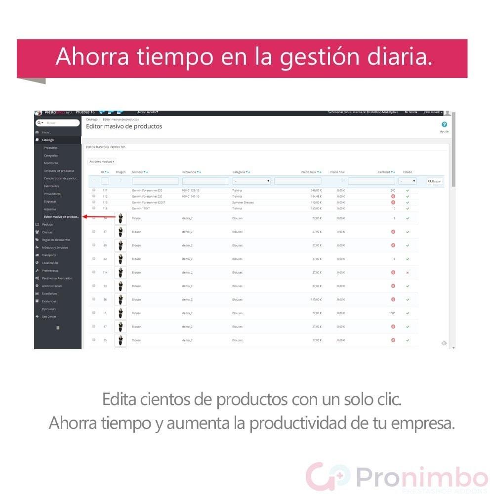 module - Edición Rápida y Masiva - Edición Masiva de Productos. - 3