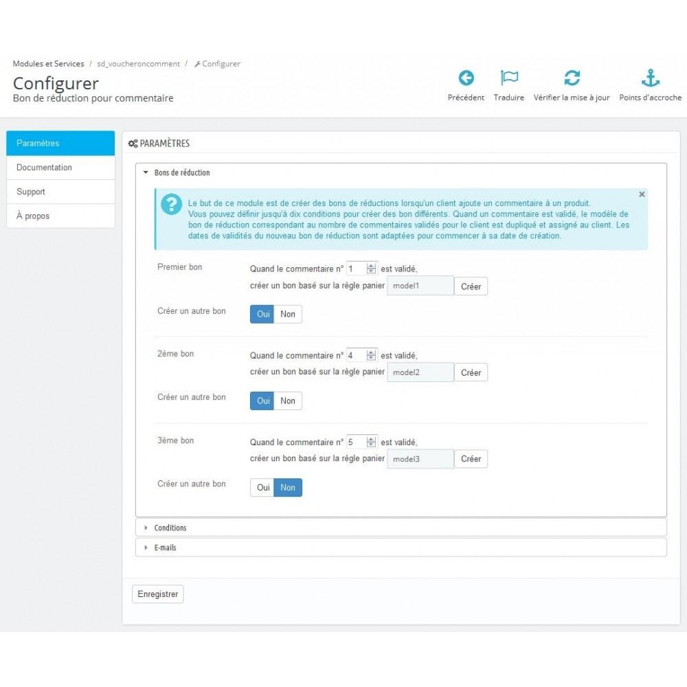 module - Avis clients - Bon de réduction pour commentaire - 1