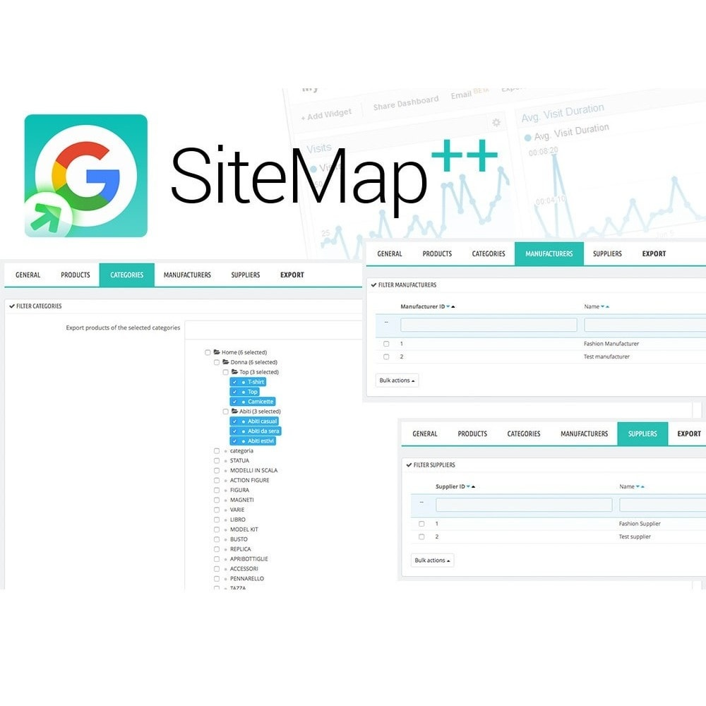 module - SEO (Zoekmachineoptimalisatie - Vermelding) - Sitemap Plus multilingual with cron and filters - 4