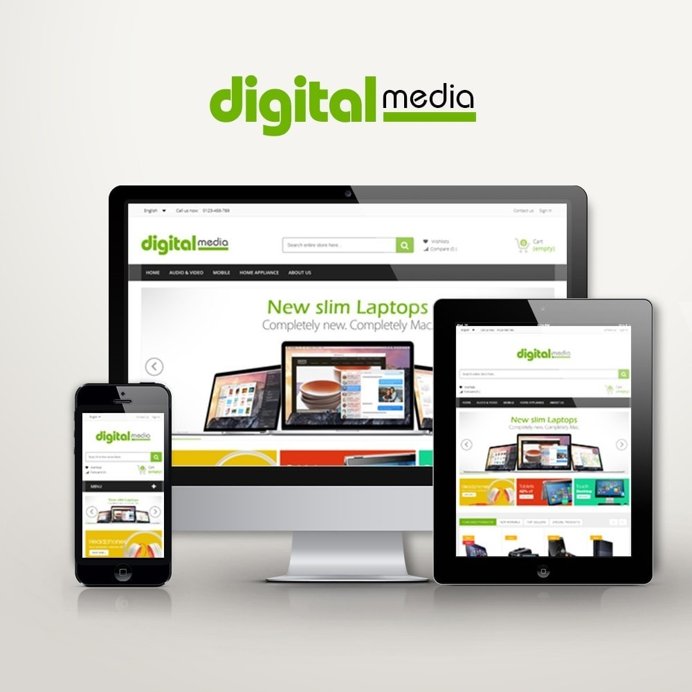 theme - Elektronik & High Tech - Digitalmedia Multi-purpose HTML5 - 1