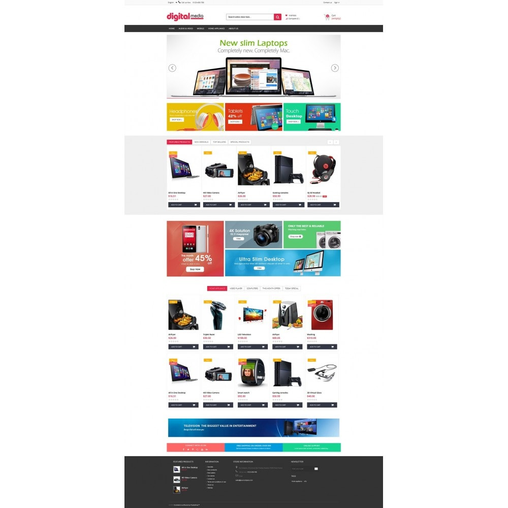 theme - Elektronica & High Tech - Digitalmedia Multi-purpose HTML5 - 8