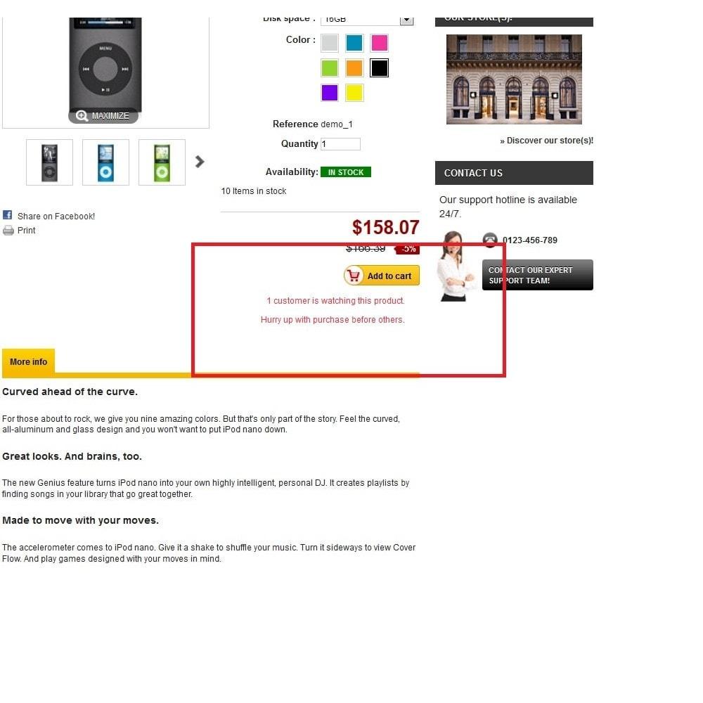 module - Dodatkowe informacje & Zakładka produktu - ImpulsePurchase - 2