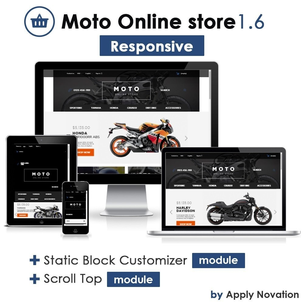 Moto and Bikes Online store 1.6 Responsive