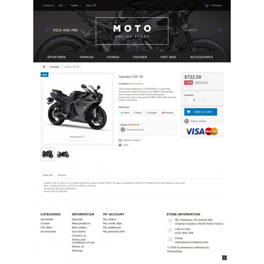 theme - Carros & Motos - Moto and Bikes Online store 1.6 Responsive - 7