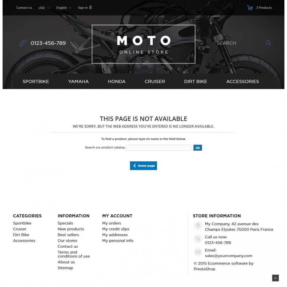 theme - Carros & Motos - Moto and Bikes Online store 1.6 Responsive - 9