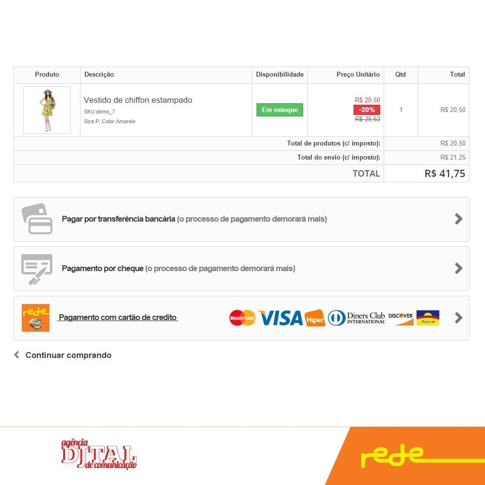 module - Payment by Card or Wallet - Brazilian Payment by Rede Card - Komerci - 2