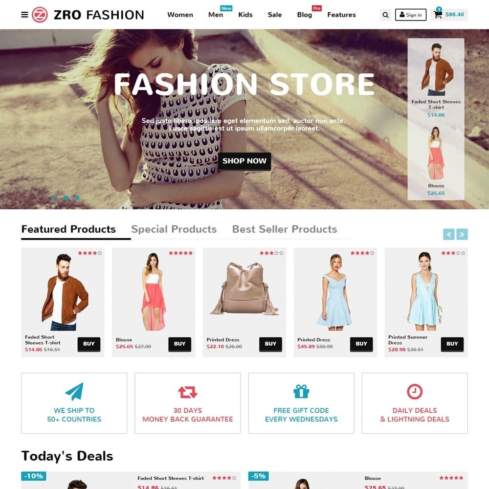 Zro02 - Fashion Responsive & Flexible