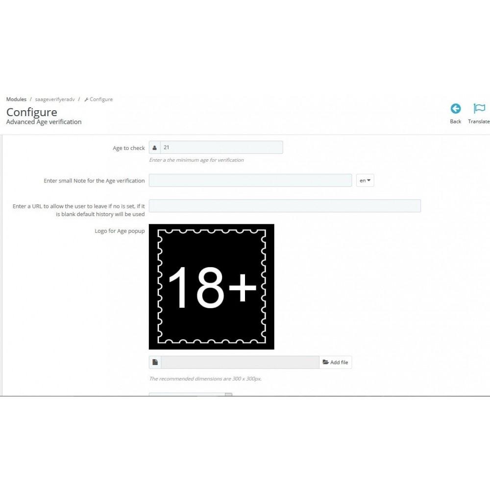 module - Sicherheit & Brechtigungen - Altersprüfungs Popup XXX FSK 18  / age checker - 2