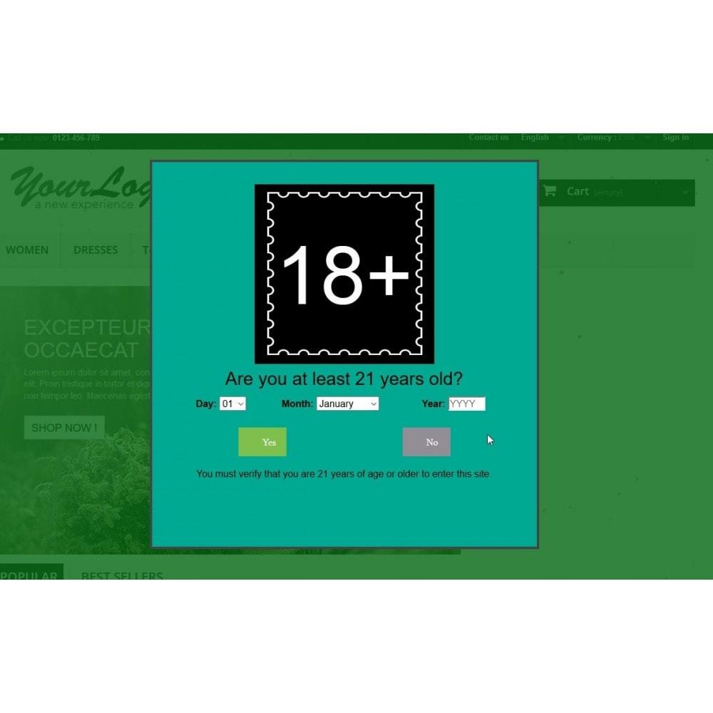 module - Sicherheit & Berechtigungen - Altersprüfungs Popup XXX FSK 18  / age checker - 10