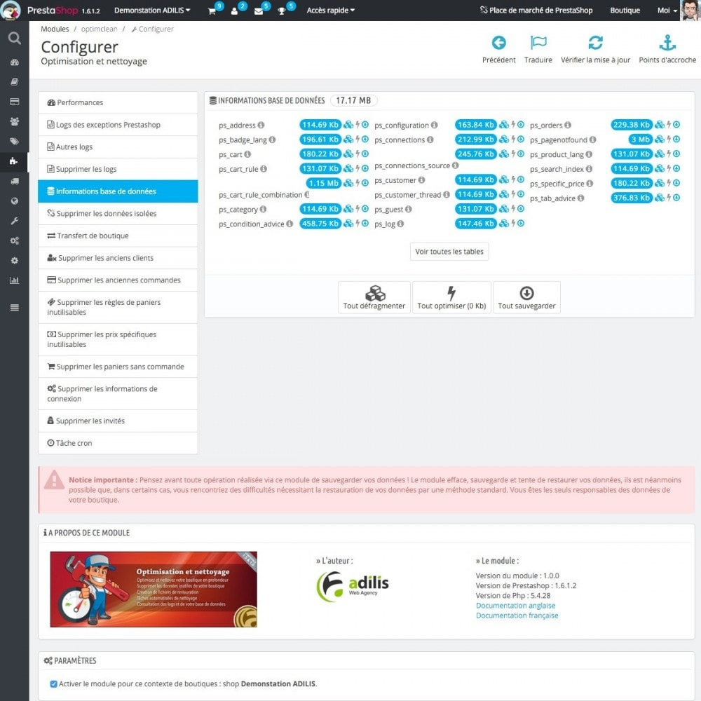 module - Performance du Site - Optimisation et nettoyage - 4