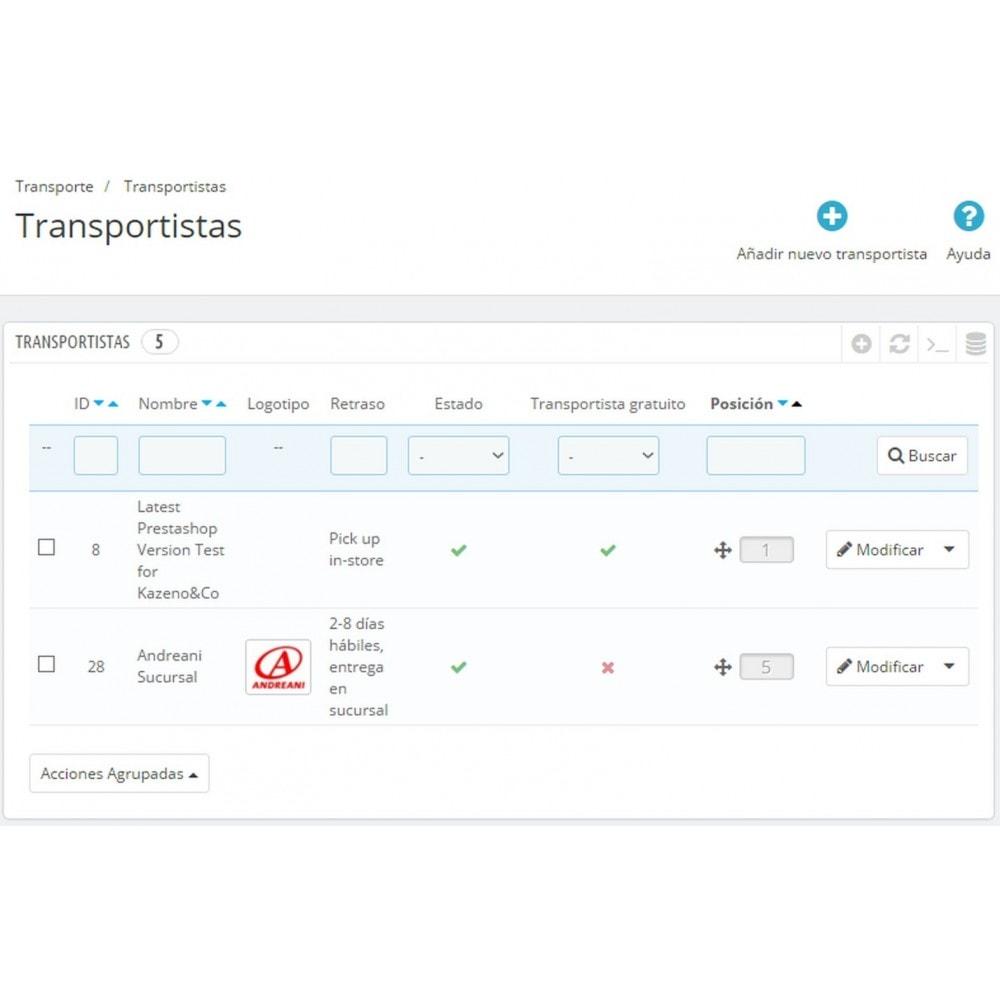 module - Transportistas - Envíos Andreani - 16