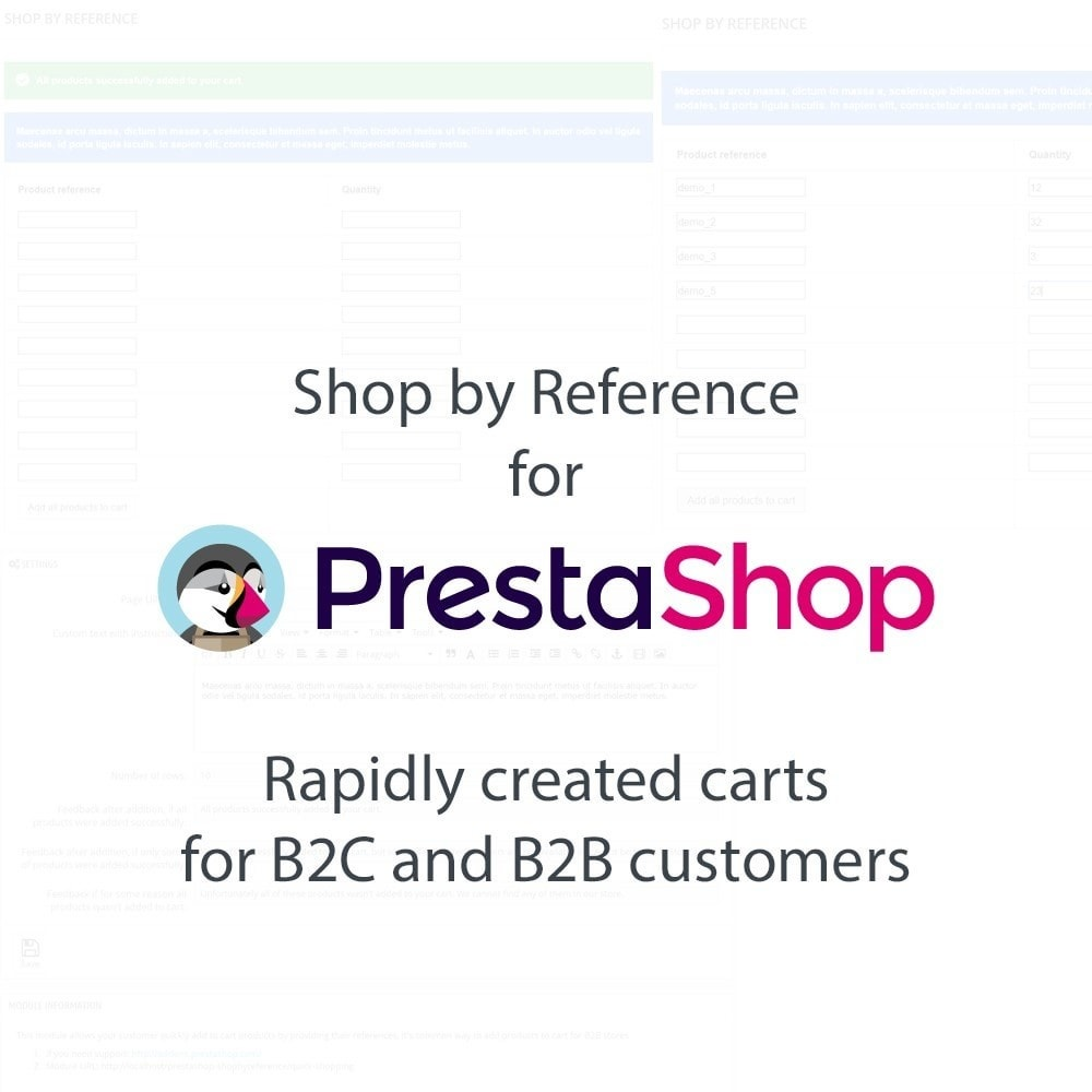 module - B2B - Shop by Reference (Quick order) - 1