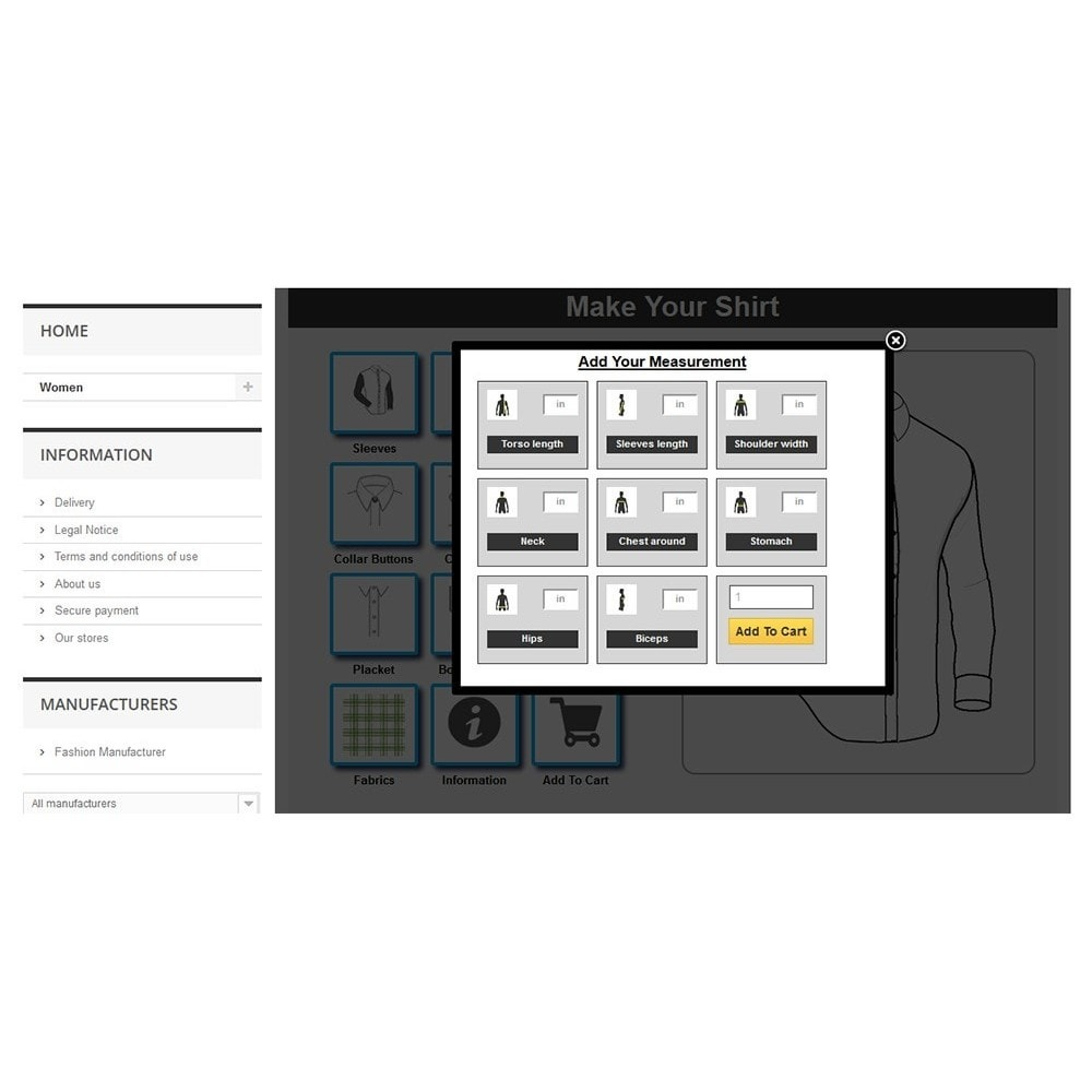 module - Combinations & Product Customization - Tailored Shirt Online - 12