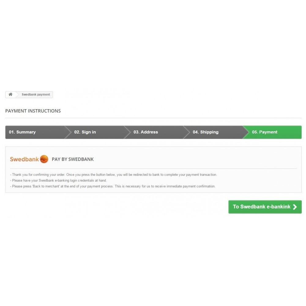module - Оплата банковской картой или с помощью электронного кошелька - Swedbank banklink Lithuania (Lietuva) - 4