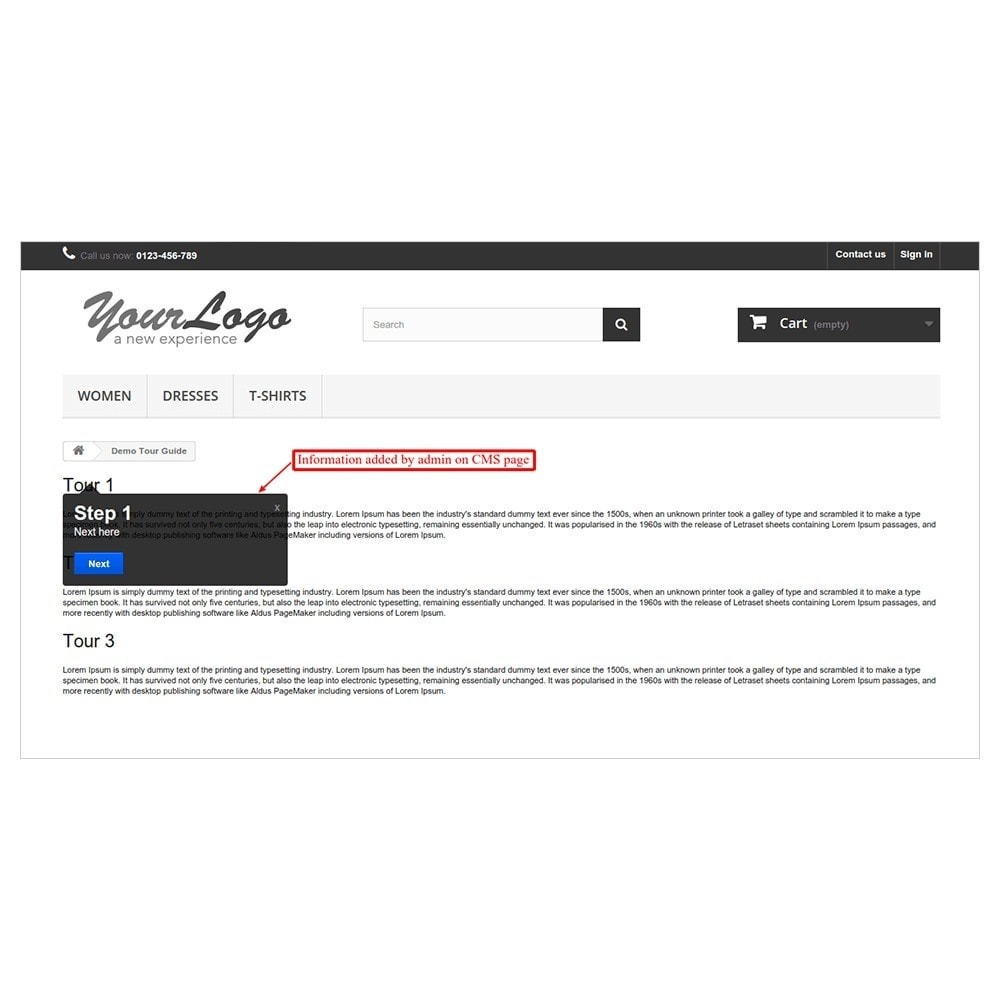 module - Инструменты навигации - Website Tour Guide - 7