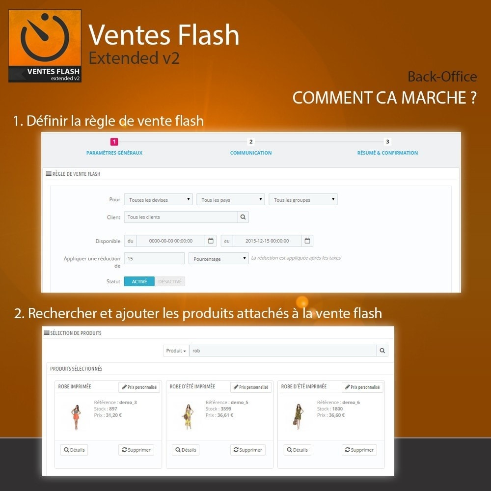 module - Ventes Flash & Ventes Privées - Ventes Flash - Etendu - 3