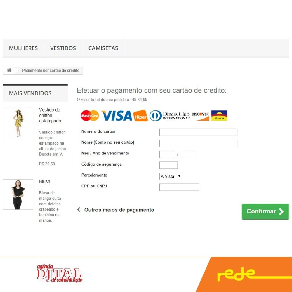 module - Payment by Card or Wallet - Brazilian Payment by Rede Card - Komerci - 3