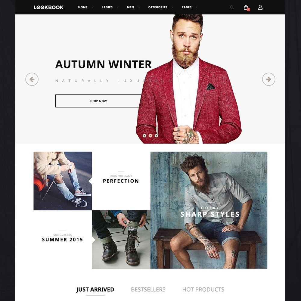 theme - Moda y Calzado - LookBook Fashion Responsive - 2