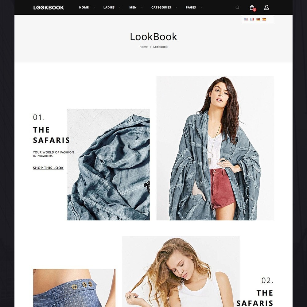lookbook fashion responsive prestashop addons. Black Bedroom Furniture Sets. Home Design Ideas