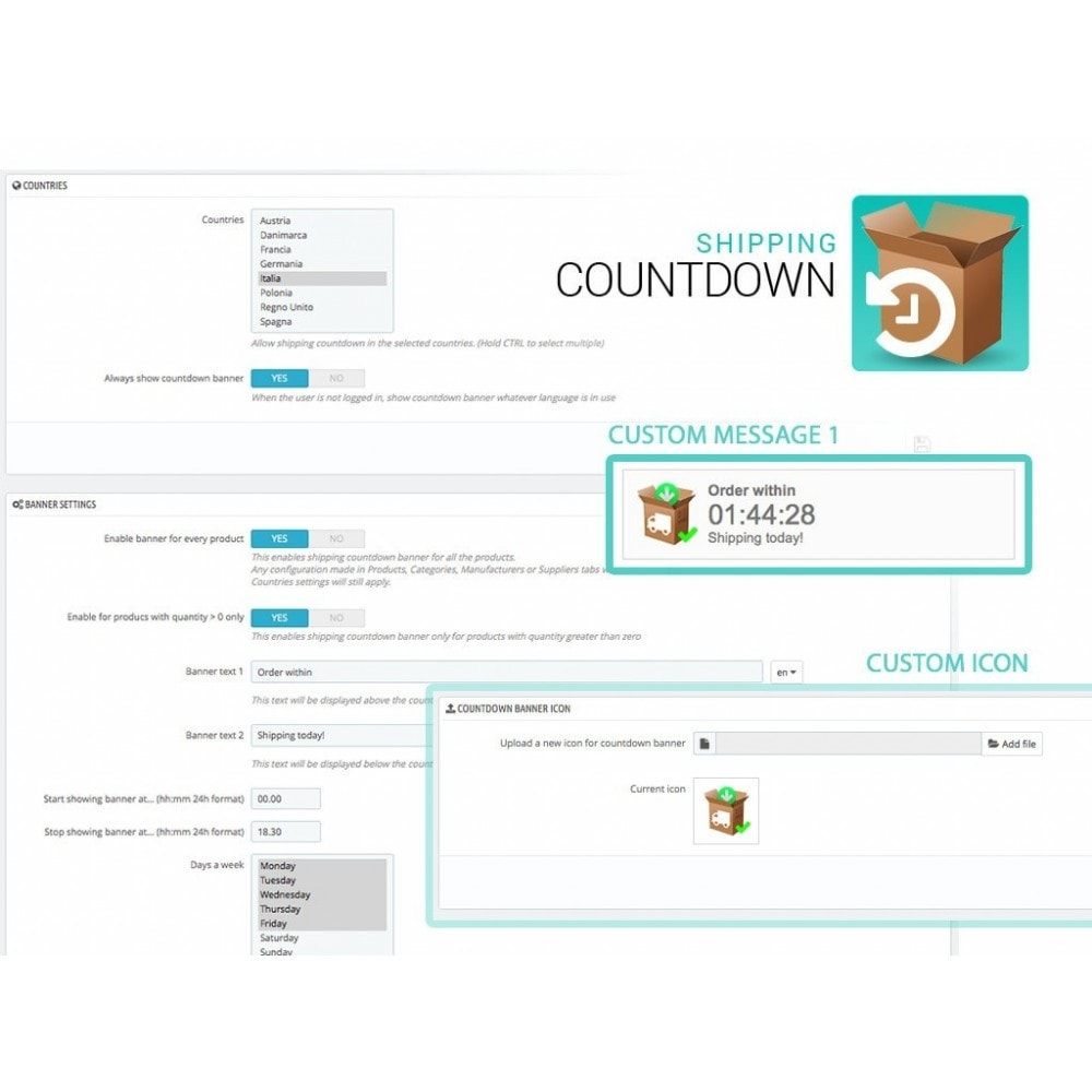 module - Data de entrega - Shipping Countdown banner - 2
