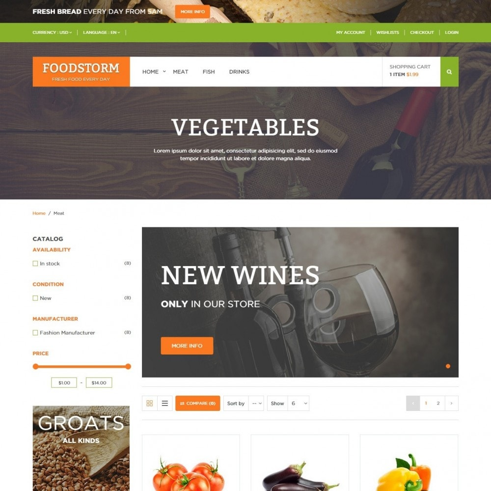 theme - Lebensmittel & Restaurants - Lebensmittelgeschäft - 3