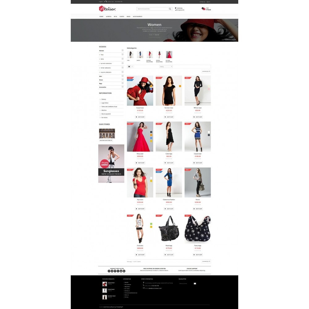 theme - Mode & Chaussures - Atelier Fashion Multipurpose HTML5 - 5