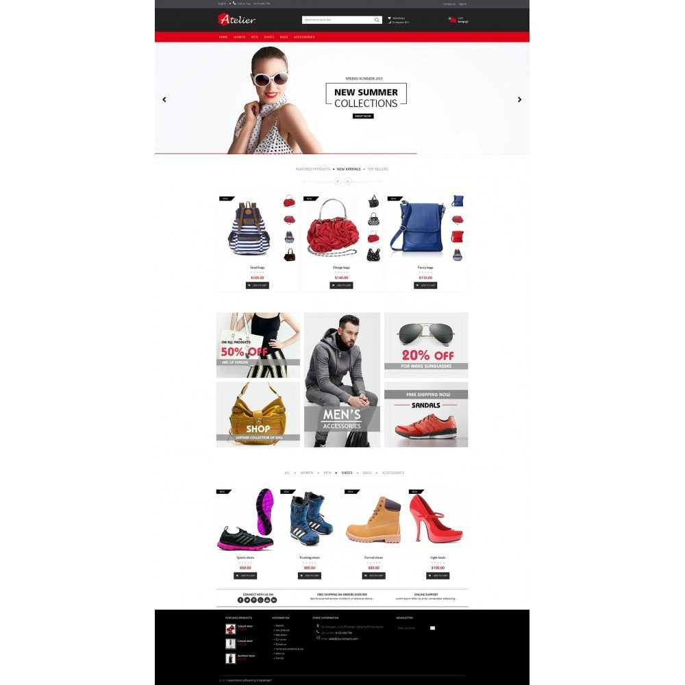 theme - Mode & Chaussures - Atelier Fashion Multipurpose HTML5 - 7