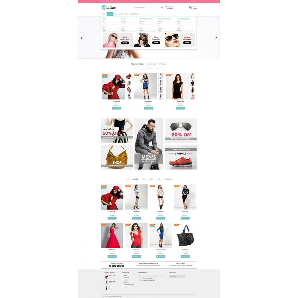 theme - Мода и обувь - Atelier Fashion Multipurpose HTML5 - 8