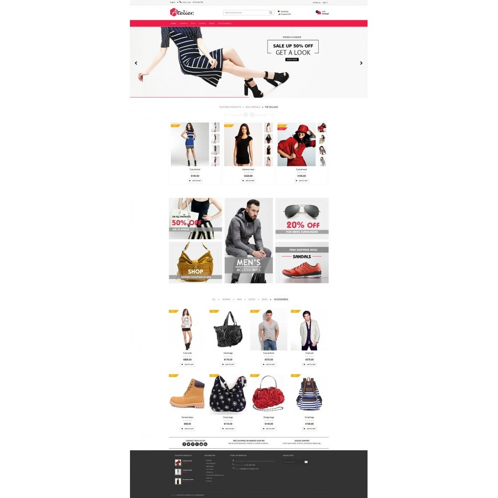 theme - Мода и обувь - Atelier Fashion Multipurpose HTML5 - 10