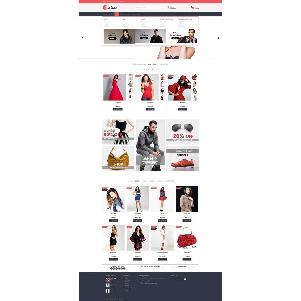 theme - Mode & Chaussures - Atelier Fashion Multipurpose HTML5 - 11