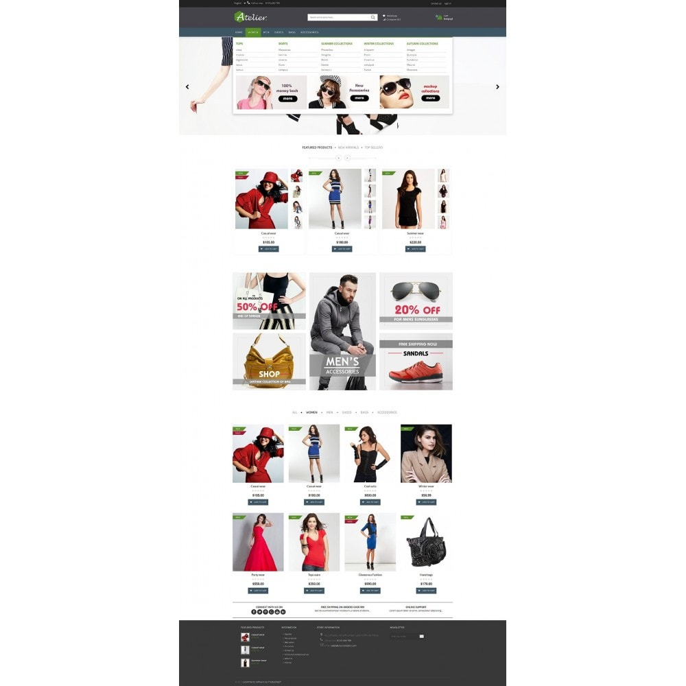 theme - Мода и обувь - Atelier Fashion Multipurpose HTML5 - 15