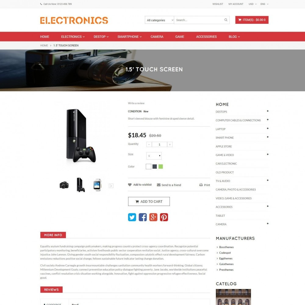 theme - Elektronica & High Tech - Appliances & Electronics Responsive  Store - 6