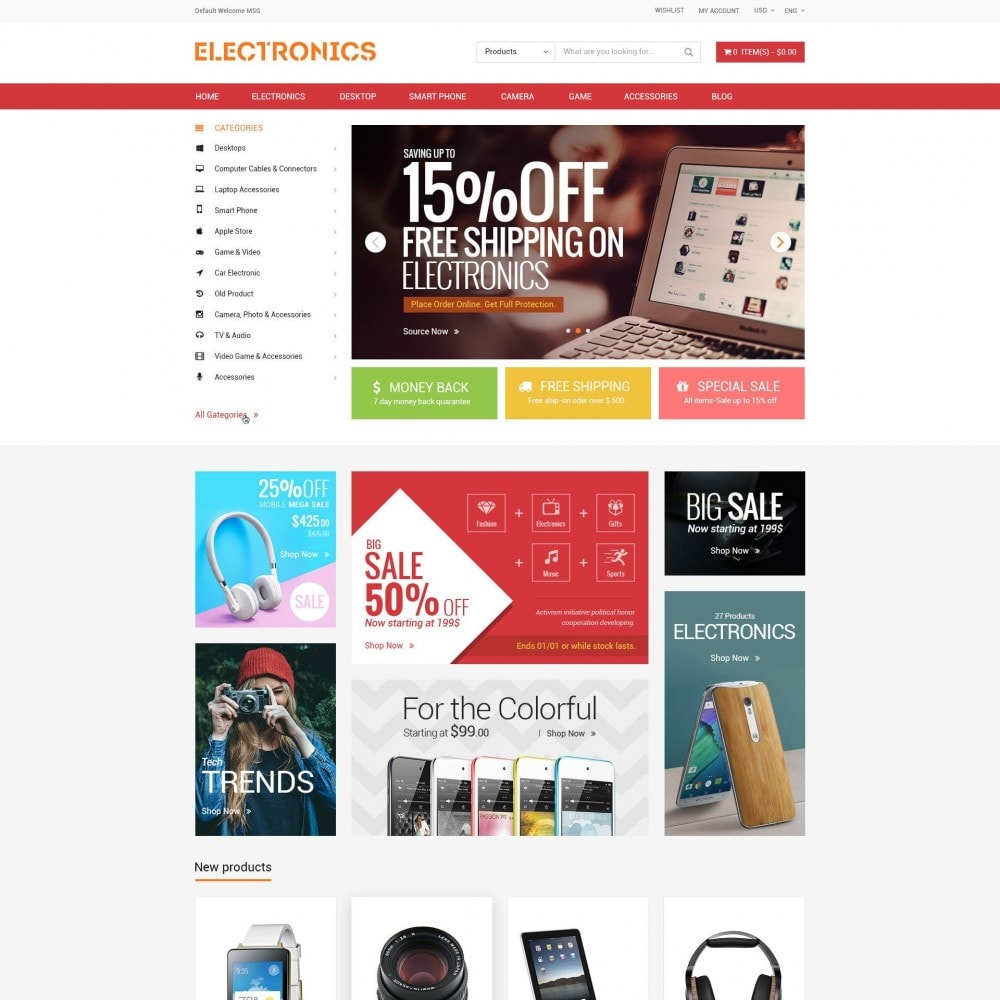 Appliances & Electronics Responsive  Store