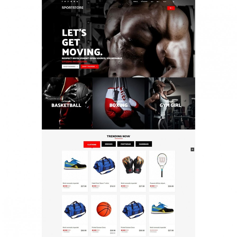 Sport Gym & Fitness Responsive Theme