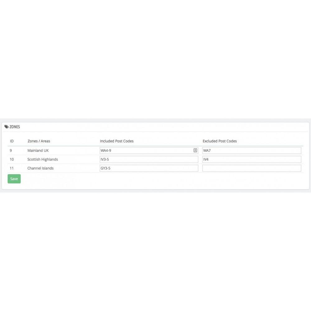 module - Spese di Spedizione - UK Postcode Split Delivery - 3
