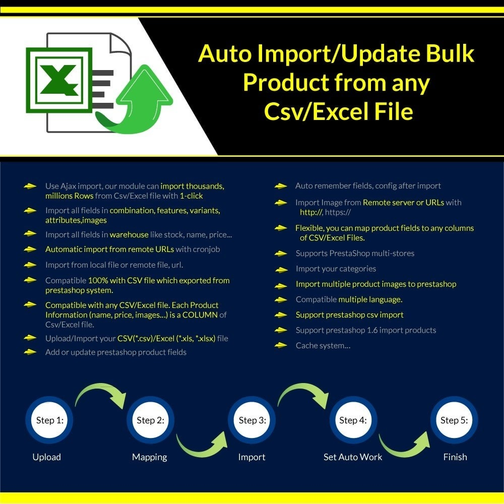 module - Import & Eksport danych (csv, pdf...) - Import/Update Bulk Product from any Csv/Excel File Pro - 1