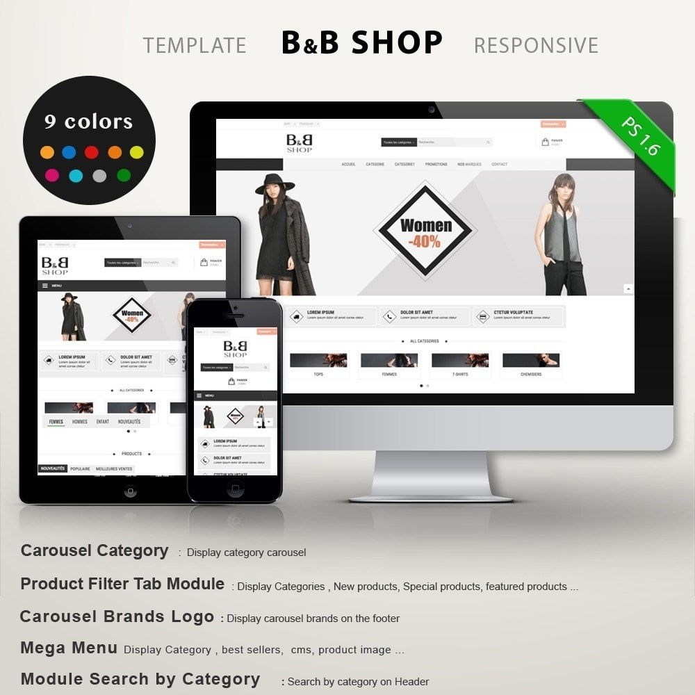 theme - Fashion & Shoes - B&B SHOP - 1