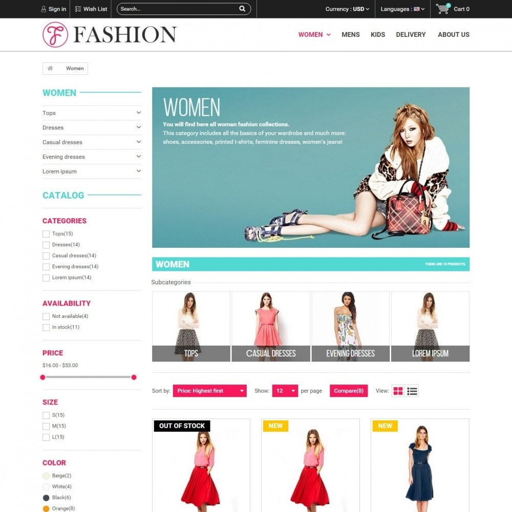 Fashion Style - Сlothes Store