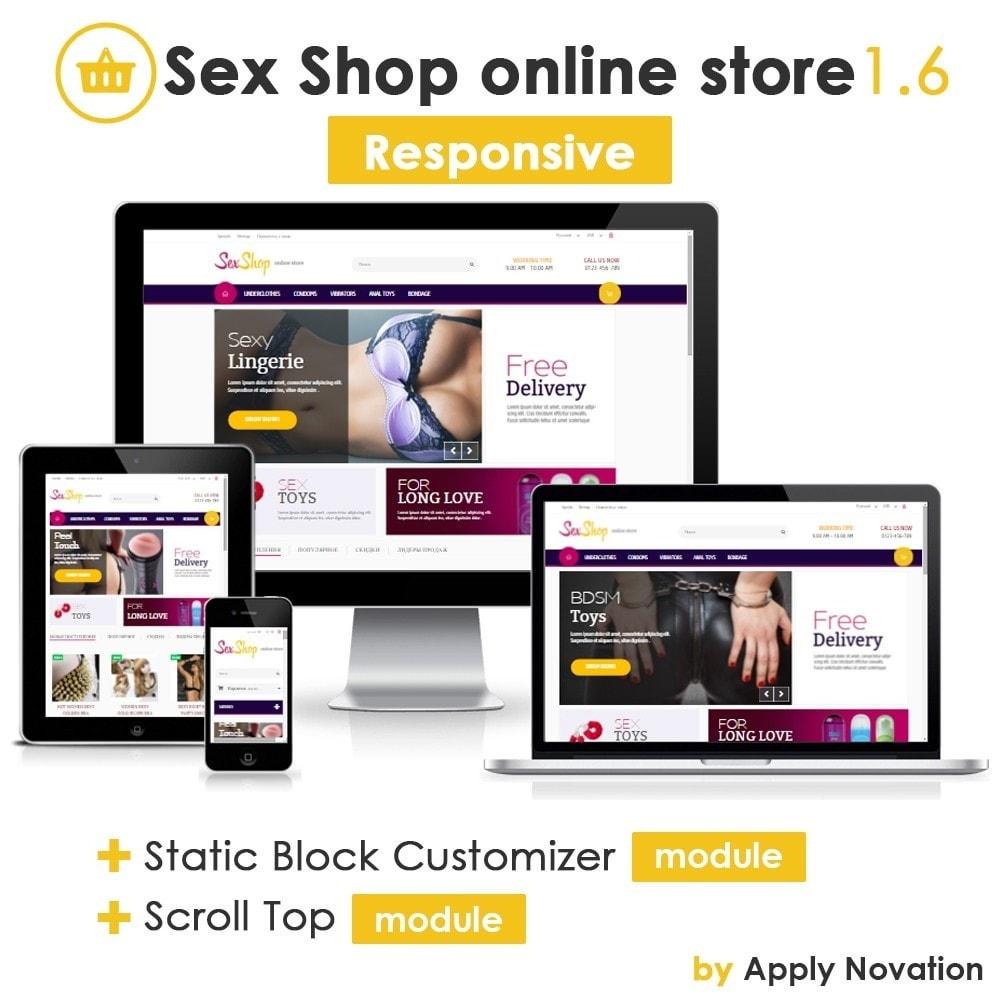 theme - Lingerie & Adultos - SexShop Online Store 1.6 Responsive - 1