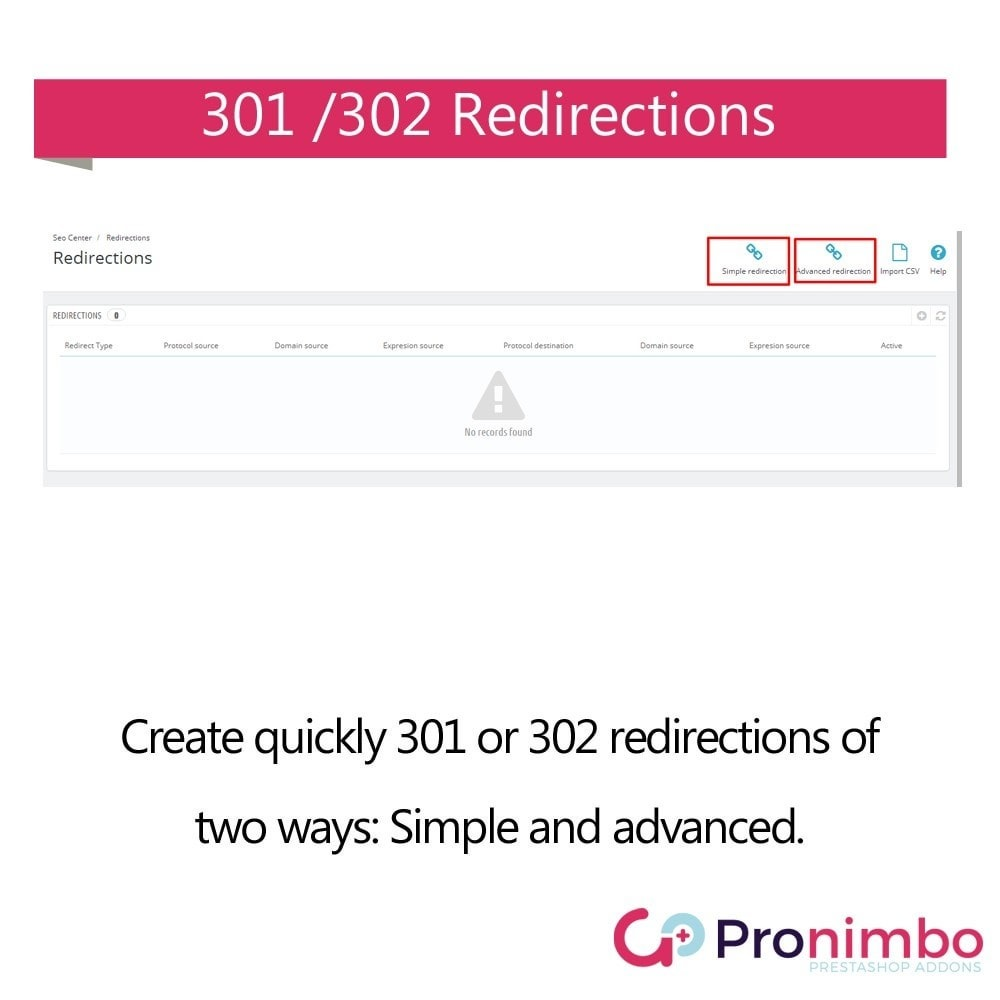 module - URL & Omleidingen - Seo Center: Redirects 301 / 302 - 2