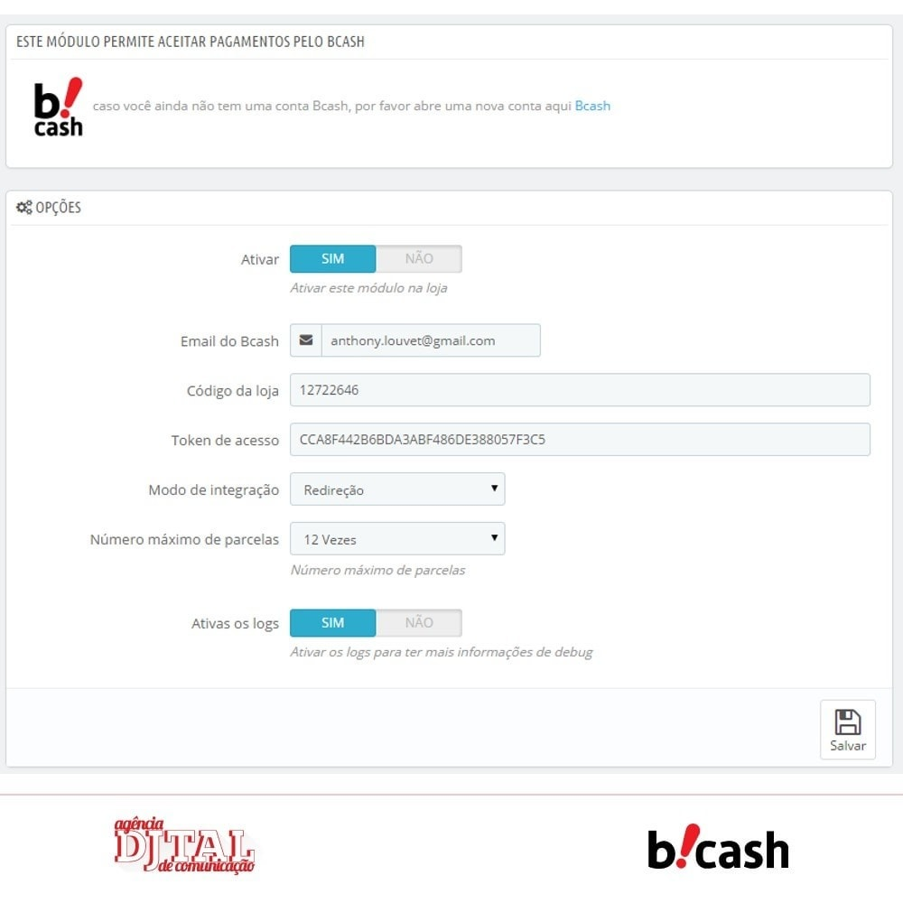 module - Pagamento con Carta di Credito o Wallet - Bcash integrated - 6